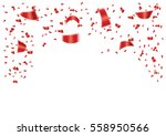 red confetti isolated on white... | Shutterstock .eps vector #558950566