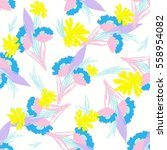 floral pattern texture with... | Shutterstock .eps vector #558954082