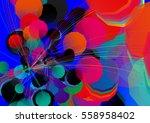 abstract unusual modern... | Shutterstock .eps vector #558958402