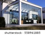 residential home with... | Shutterstock . vector #558961885