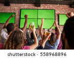 rear view of friends watching... | Shutterstock . vector #558968896