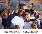 portrait of couple watching... | Shutterstock . vector #558968992