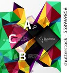 mosaic low poly abstract... | Shutterstock .eps vector #558969856