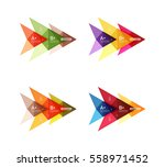 colorful vector option banner... | Shutterstock .eps vector #558971452