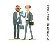 happy colleagues best friends... | Shutterstock .eps vector #558974686