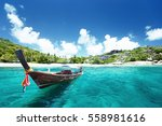 boat on beach  thailand | Shutterstock . vector #558981616