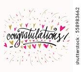 congratulations calligraphy... | Shutterstock .eps vector #558983662