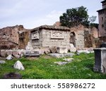 Small photo of Basilica Aemilia (Basilica Emilia), Foro Romano, Ancient Roman remains, Rome, Italy