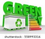 3d illustration of car battery... | Shutterstock . vector #558993316