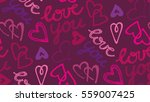 valentine's day pattern with...   Shutterstock .eps vector #559007425