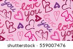 valentine's day pattern with... | Shutterstock .eps vector #559007476