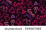 valentine's day pattern with...   Shutterstock .eps vector #559007485