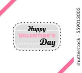 badge for valentines day.... | Shutterstock .eps vector #559013002