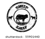 grunge rubber stamp with the... | Shutterstock .eps vector #55901440