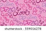 valentine's day pattern with...   Shutterstock .eps vector #559016278