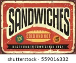 retro food sign design for... | Shutterstock .eps vector #559016332