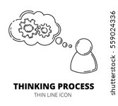 thinking process. thin line... | Shutterstock .eps vector #559024336