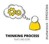 thinking process. colored flat... | Shutterstock .eps vector #559024366