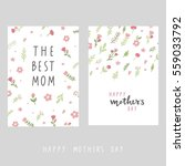 mother's day card | Shutterstock .eps vector #559033792