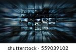 3d rendering. video wall into... | Shutterstock . vector #559039102