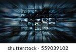 3d rendering. video wall into... | Shutterstock . vector #559039102