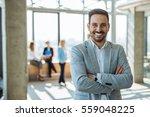 portrait of a smiling handsome... | Shutterstock . vector #559048225