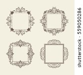 rosette wicker border... | Shutterstock . vector #559050286