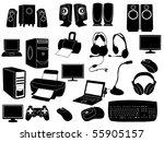 computer elements | Shutterstock .eps vector #55905157
