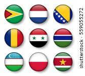 set of world flags round badges ... | Shutterstock .eps vector #559055272