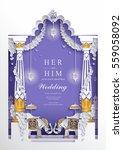 indian wedding invitation card...   Shutterstock .eps vector #559058092