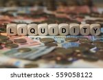 liquidity   cube with letters ...   Shutterstock . vector #559058122