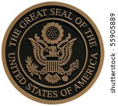 Bronze Plaque The Great Seal O...