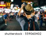 young asian traveler taking... | Shutterstock . vector #559060402