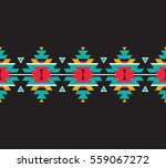 tribal seamless colorful... | Shutterstock .eps vector #559067272