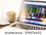 abstract blur notebook computer ... | Shutterstock . vector #559076452