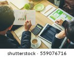 team of business consulting ... | Shutterstock . vector #559076716