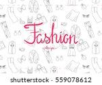 fashion doodle illustration   Shutterstock .eps vector #559078612