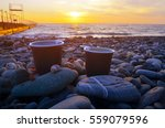 Two Cups Of Coffee On The Sea...