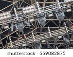 multiple spotlights on a... | Shutterstock . vector #559082875