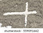 cross made in ashes  ash... | Shutterstock . vector #559091662