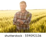 Portrait Of Young Farmer In A...