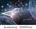 social network concept | Shutterstock . vector #559099162