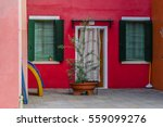 exterior of colorful houses of... | Shutterstock . vector #559099276