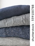navy blue and gray knitted... | Shutterstock . vector #559100788