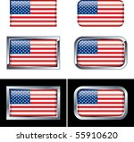 american flag buttons | Shutterstock .eps vector #55910620