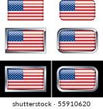 american flag buttons | Shutterstock .eps vector #55910620