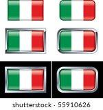 italian flag buttons | Shutterstock .eps vector #55910626