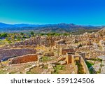 ruins of the ancient palace of... | Shutterstock . vector #559124506