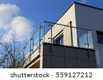 stainless steel balcony railing | Shutterstock . vector #559127212