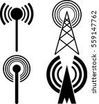 Antenna Signal Connecting Icon